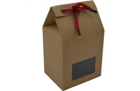 GIFT BOX WITH WINDOW AND RED RIBBON 10x8x16cm SET/25